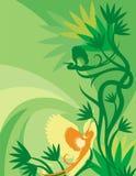 Blumenvogel-Hintergrund-Serie Stockbilder