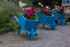Blumenwarenkörbe Stockfotos