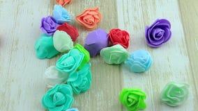 Blumenweg von den dekorativen Rosen stock footage