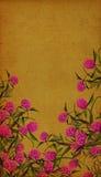 Blumenweinlese-Hintergrund Lizenzfreies Stockbild