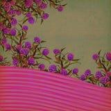 Blumenweinlese-Hintergrund Stockfoto