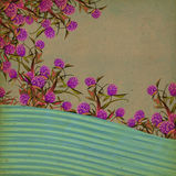 Blumenweinlese-Hintergrund Stockbild