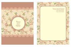 Blumenweinlese-Schablone Stockfotos