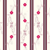 Blumenweinlese-Tapete Lizenzfreie Stockbilder