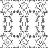 Blumenweinlese-Tapete Stockfotografie