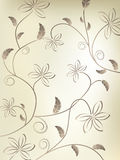 Blumenweinlese-Vektor Lizenzfreie Stockfotos