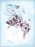 Blumenweinlesefeld Stockbilder