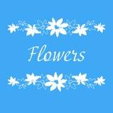 Blumenweinleserahmen manuelle Zeichnung Lizenzfreie Stockbilder