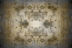 Blumenweinlesetapete Stockbild