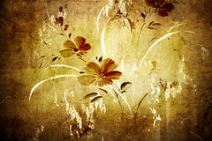 Blumenweinlesetapete Stockfotografie