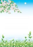 Blumenwiese stock abbildung