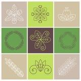 Blumenzeichen Stockbild