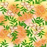 Blumenzeichnung nahtlos stockfoto