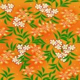 Blumenzeichnung nahtlos lizenzfreies stockfoto