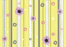 Blumenzeile Stockfoto