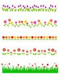 Blumenzeile/-teiler Stockbild