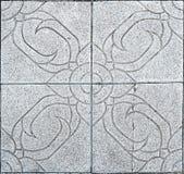 Blumenzement deckt Muster mit Ziegeln Lizenzfreie Stockfotos