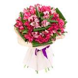 Blumenzusammensetzung der rosa Tulpen Lizenzfreie Stockfotografie
