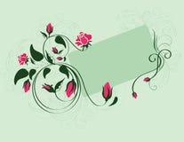 Blumenzusammensetzung mit leerer Karte Stockbild