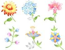 Blumenzweige eingestellt Stockfotografie