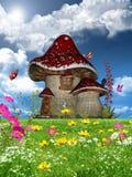 Blumiger Garten Stockfoto