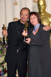 "Blundell Proud. 26MAR2000:  ""Topsy Turvey"" make-up artists CHRISTINE BLUNDELL & TREFOR PROUD at the 72nd Academy Awards.  Paul Smith / Featureflash Stock Photo"