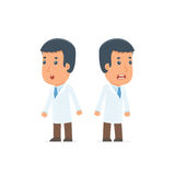 Blunt Character Doctor very surprised and did not believe his ey. Es. for use in presentations, etc Stock Images