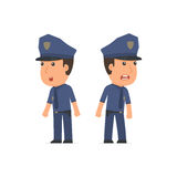 Blunt Character Officer very surprised and did not believe his e Stock Images