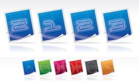 Bluprint font icons Royalty Free Stock Photography