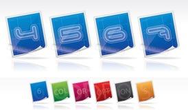 Bluprint font icons Stock Photography