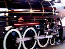 Blur by. A real life working 1/4 scale steam locomotive at the kiddy park Royalty Free Stock Photography