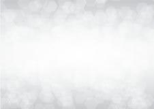 Gray bokeh hexagon, Abstract vector background Stock Photography