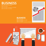 Vector illustration. Flat backgrounds Graphic Design set for Financial and market.  Stock Photo