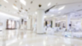 Blur abstract from the hallway. White background blur abstract from the hallway corridor to the mall Royalty Free Stock Image