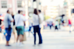 Blur abstract people background. Pedestrians in modern city street, blur abstract people background Stock Image