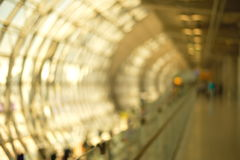 Blur abstract walking tunnel Stock Photo