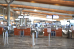 Blur background of airport Stock Photo