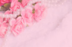 Blur background : Beautiful Pink Flower with place for text Stock Images