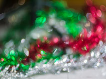 Blur background from christmas tree Royalty Free Stock Images