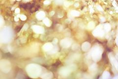 Blur background of gold color bokeh light, pattern for beautiful wallpapers. Suitable for use an luxurious background Stock Photo