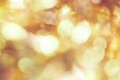 Blur background of gold color bokeh light, pattern for beautiful wallpapers. Suitable for use an luxurious background Stock Photography