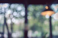 Blur background image, light bulb decor interior Royalty Free Stock Photos