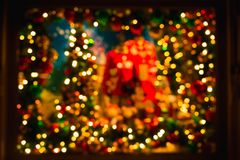Free Blur Background Light Bokeh Colorful In Shop Window For Christmas Idea Concept Royalty Free Stock Photo - 127018575
