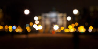 Blur background with lights of night city Stock Images