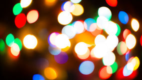 Blur Background red new year. Colorful blur bokeh background lights new year Stock Photography