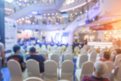 Blur background, seminar event hall Stock Image