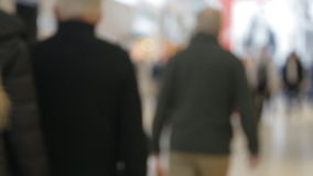 Blur background of shopping mall and crowd  stock footage
