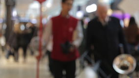 Blur background of shopping mall and crowd of stock video footage