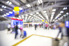 Blur background : Terminal Departure Check-in at airport   Royalty Free Stock Photography