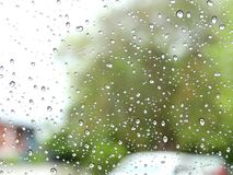 Blur background,View through the windshield on a rainy day. royalty free stock photos